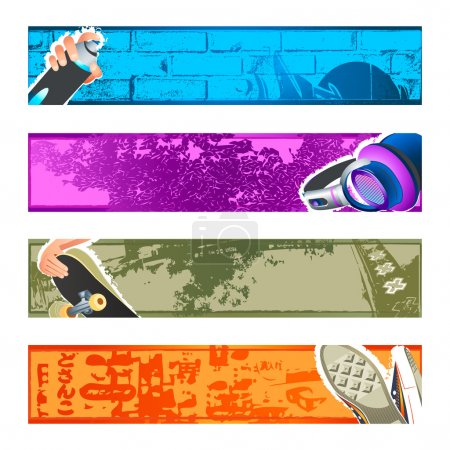 Urban banner backgrounds