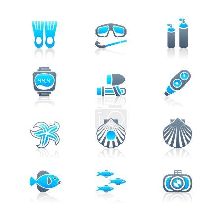 Scuba diving icons | MARINE series