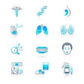 Постер Медицина морская серия значков