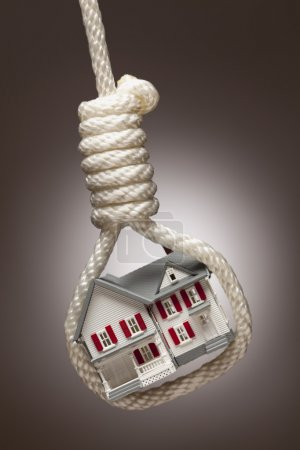 House Tied Up and Hanging in Hangman's Noose on