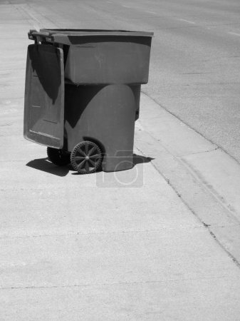Garbage Can on Street