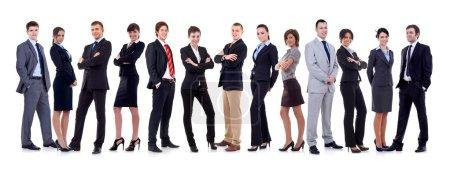 Photo pour Bonne équipe d'affaires, isolé sur fond blanc - image libre de droit