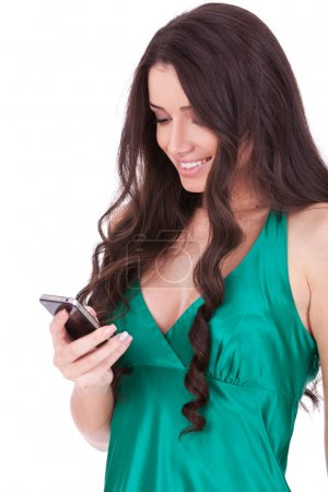 Woman texting on her cell