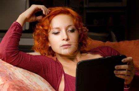 Reading her ebook