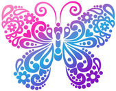 Swirly Butterfly Vector Design Element