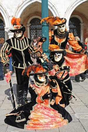 Masked persons in Venice