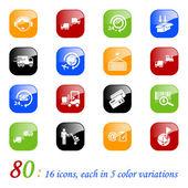 Logistics icons - color series