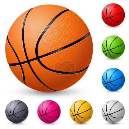 Photo pour Basketball. Illustration sur fond blanc pour le design . - image libre de droit