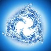 Cool water wave swirl