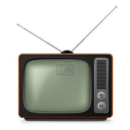 Realistic vintage TV.