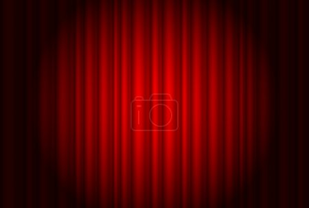Illustration for Curtain from the theatre with a spotlight. Illustration of the designer - Royalty Free Image