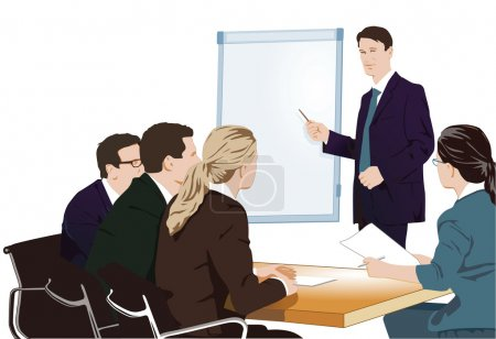 Illustration for Lecture and training - Royalty Free Image