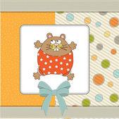 Grußkarte mit niedlich kleine Ratte