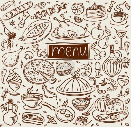 Photo pour Croquis alimentaire - image libre de droit