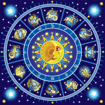 Illustration for Horoscope circle - Royalty Free Image