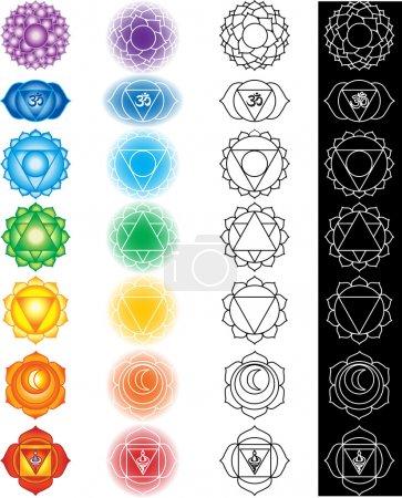 Seven chakras...