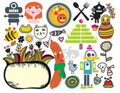 Mix of different vector images and icons vol33
