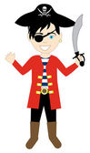 Vector of a Pirate boy in a costume