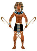 Vector Illustration of a man dressed in Egyptian Carnival Halloween Costume
