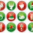 Vector Illustration Card of the 12 days of Christm...