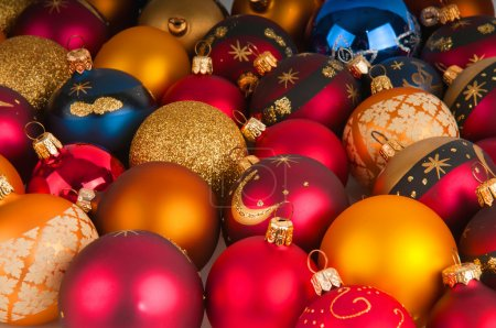 Photo for A colorful christmas ornaments closeup - Royalty Free Image