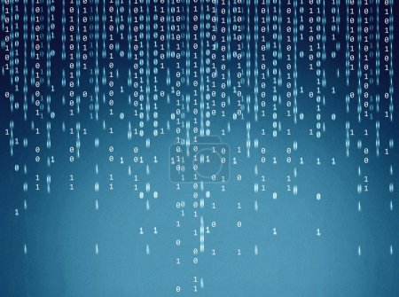 Binary code on a digital screen...