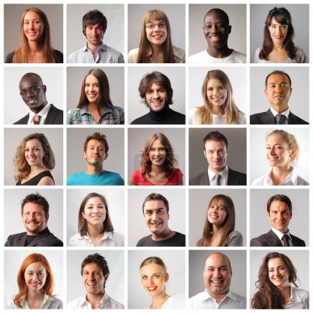 Photo for Composition of different smiling people - Royalty Free Image