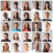 """Постер, картина, фотообои """"различные улыбающиеся люди"""""""