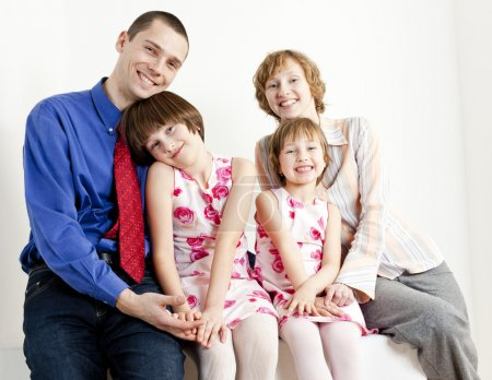 Photo for Portrait of parents with their daughters - Royalty Free Image