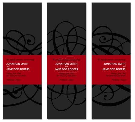 Illustration pour Ensemble de cadre décoratif grand vecteur noir et rouge. Ensemble de cadre décoratif grand vecteur noir et rouge - image libre de droit