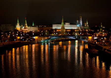 View of the Kremlin from Moscow River bridge