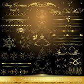 Calligraphic golden design elements