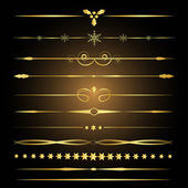Decorative design elements Golden dividers