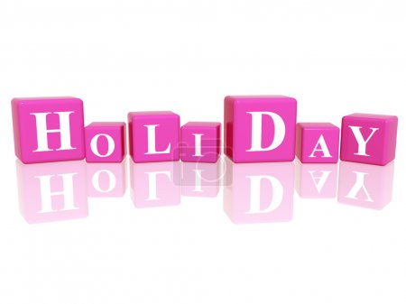 Holiday in 3d cubes