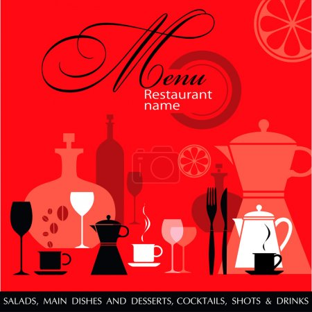 Photo for Restaurant menu vector - Royalty Free Image