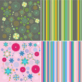 Background vector flowers