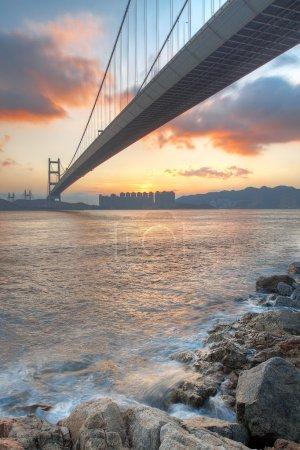 Bridge at sunset moment