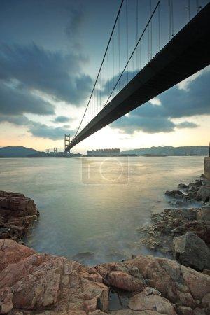 Tsing ma bridge sunset,Hongkong