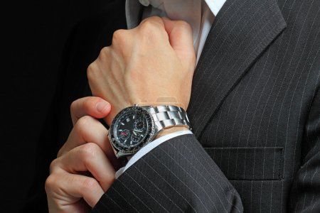 Men's hand with a watch....