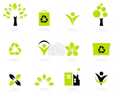 Ecology, nature and environment icons set