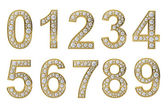 Golden numbers with white diamonds