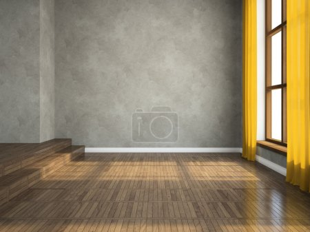 Photo for Empty room 3D rendering - Royalty Free Image
