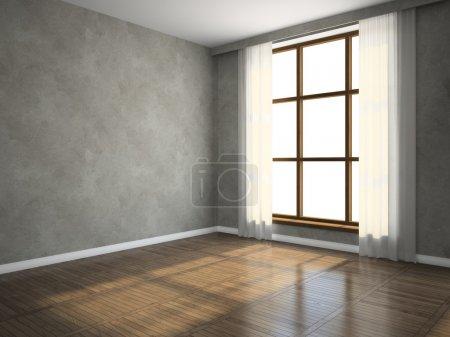 Foto de Parte de la sala vacía de render 3d - Imagen libre de derechos