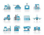 Průmyslu a ikony