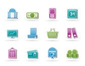 Podnikání a finance ikony