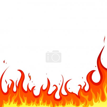 Illustration for Vector illustration of a hot burning background - Royalty Free Image