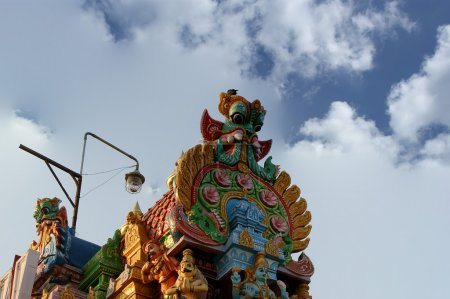 Traditional statues of gods and goddesses in the Hindu temple