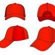 Outline cap vector illustration isolated on white....