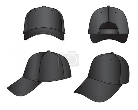 Black cap vector illustration