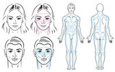 Facial and body massaging lines for man and woman.